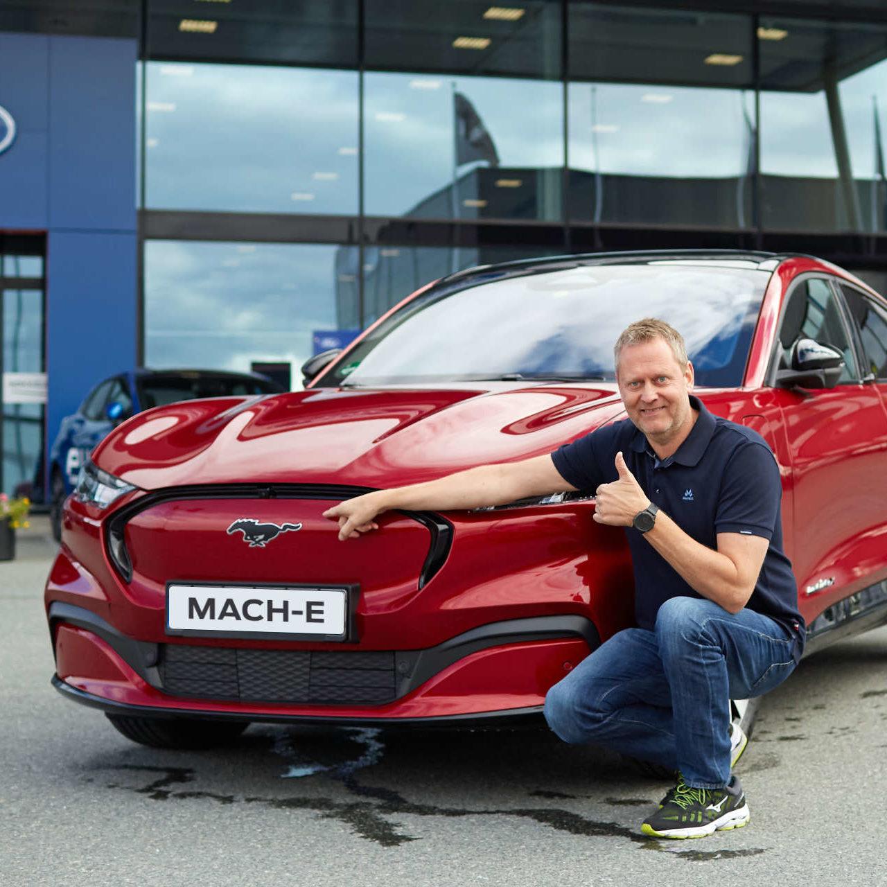 Åpner for bestilling:Vellykket testing av Mustang Mach-E i Norge