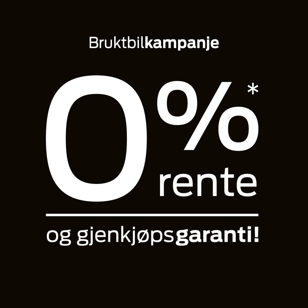 Bruktbilkampanje: 0% rente og gjenkjøpsgaranti!